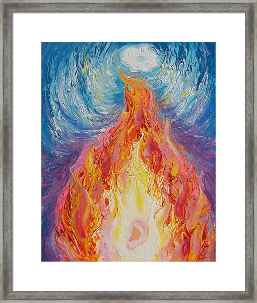 Prophetic Message Sketch 16 Listen To The Benevolent Flame Look For The Promise  Framed Print