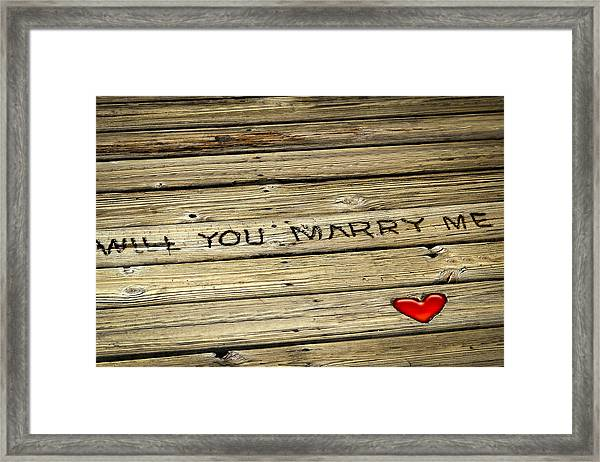 Propose To Me Framed Print