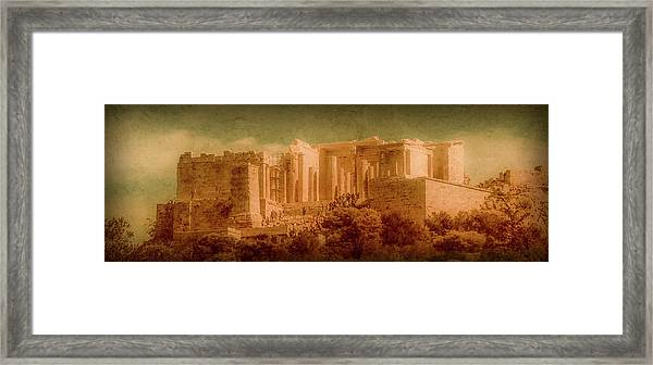 Framed Print featuring the photograph Athens, Greece - Propylaia by Mark Forte