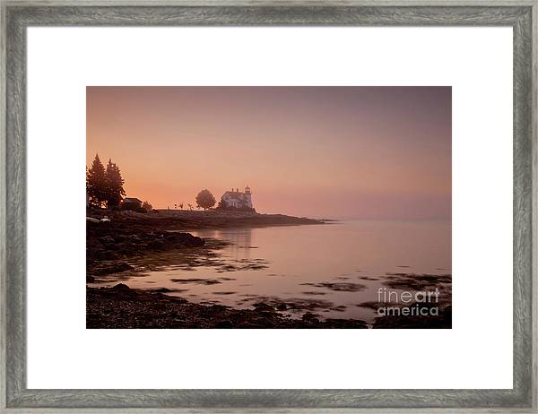 Framed Print featuring the photograph Prospect Harbor Dawn by Susan Cole Kelly