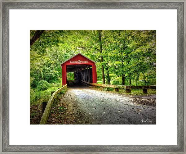 Protected Crossing In Summer Framed Print