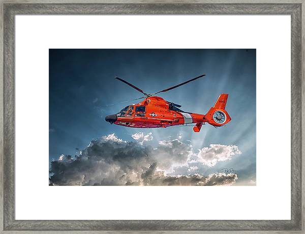 Protecting The Coast Framed Print