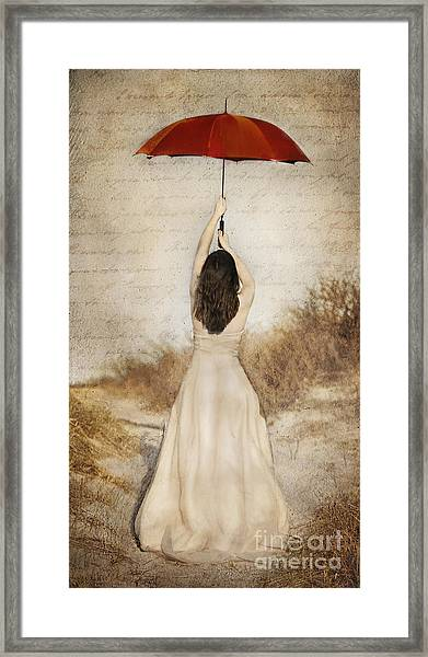 Protection Painted Lady Framed Print