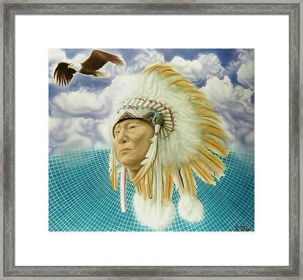 Proud As An Eagle Framed Print