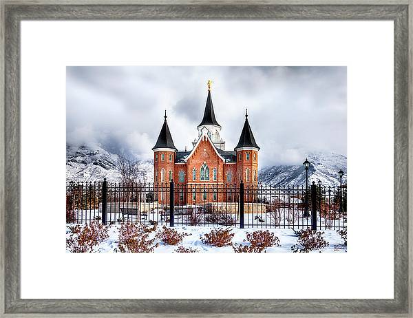 Provo City Center Temple Framed Print