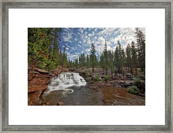 Provo River Falls Framed Print