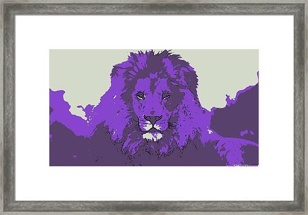 Pruple King Framed Print