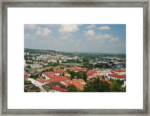Przemsyl And The River San Framed Print by William Thomas
