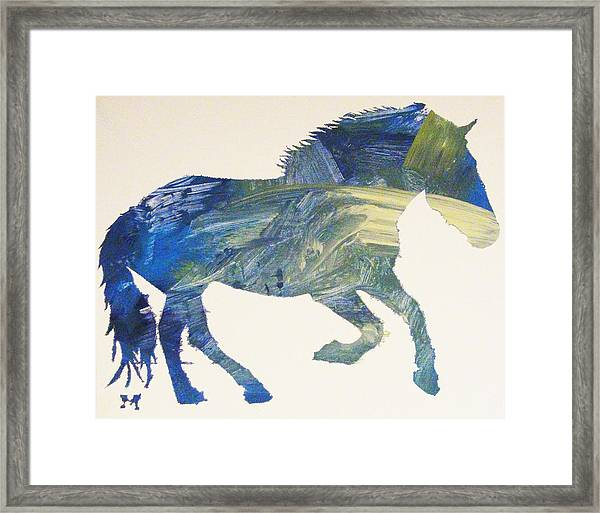Framed Print featuring the painting Przewalksi by Candace Shrope