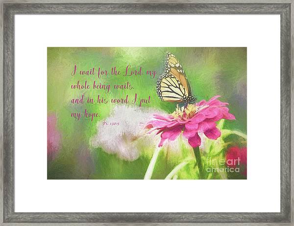 Psalm 130 Framed Print
