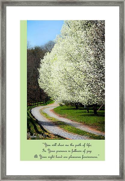 Psalm 16 11 Framed Print