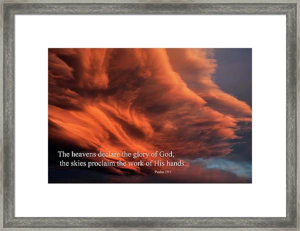 Psalm 19-1 Framed Print