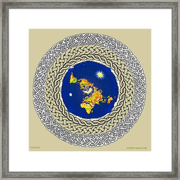 Psalm 37 Flat Earth Framed Print