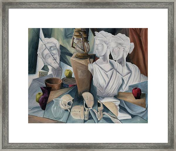Framed Print featuring the painting Psyche by Break The Silhouette