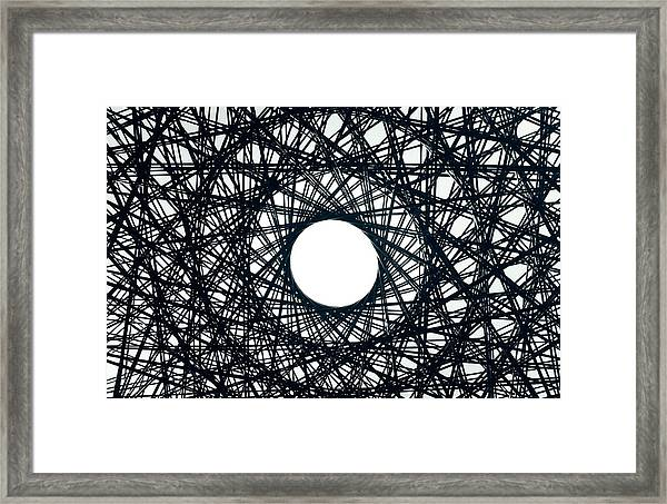 Psychedelic Concentric Circle Framed Print