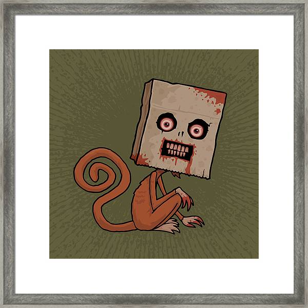Psycho Sack Monkey Framed Print