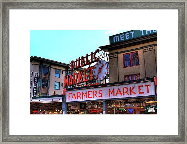 Public Market II Framed Print