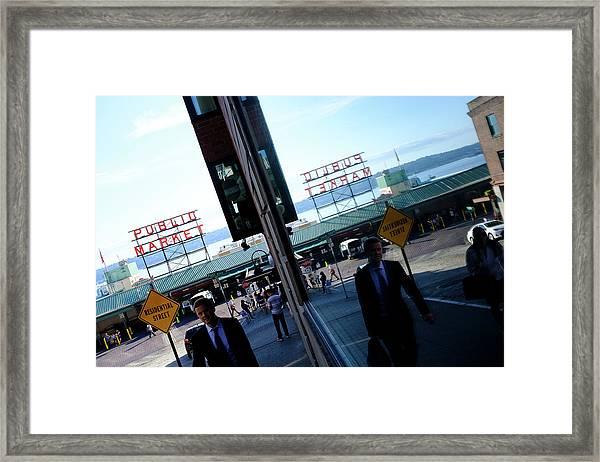 Public Market In Seattle Washington Framed Print