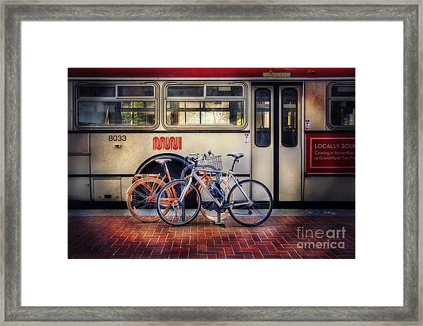 Public Tier Bicycles Framed Print