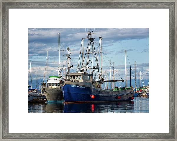 Framed Print featuring the photograph Pubnico Gemini by Randy Hall
