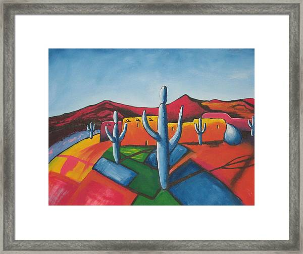 Framed Print featuring the painting Pueblo by Antonio Romero
