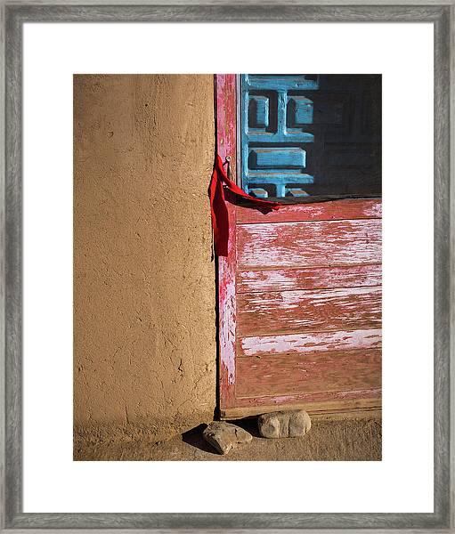 Pueblo Door Framed Print