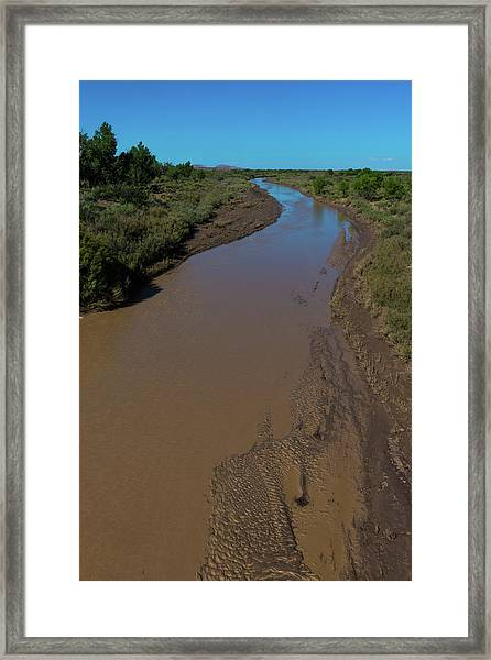 Puerco River Flows Framed Print