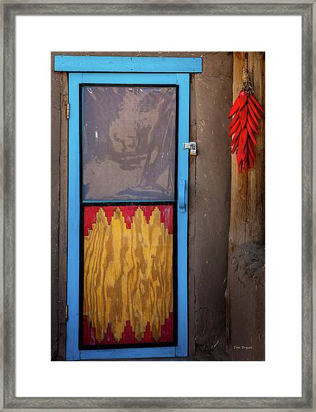 Puerta Con Chiles Framed Print