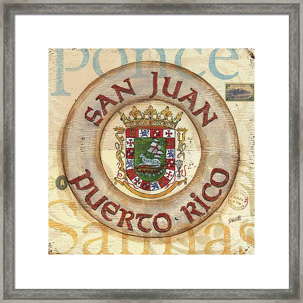 Puerto Rico Coat Of Arms Framed Print