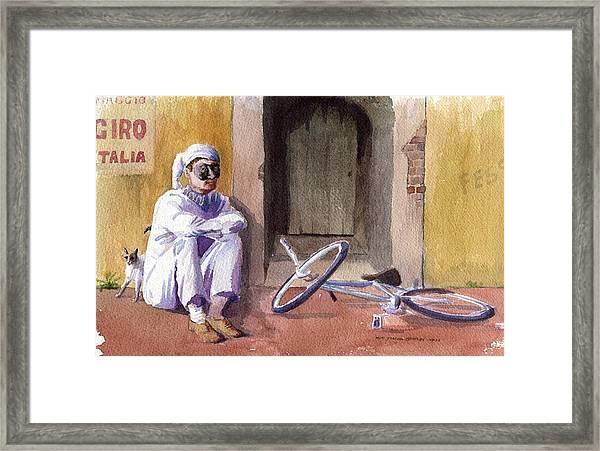 Pulcinella Pronto Framed Print