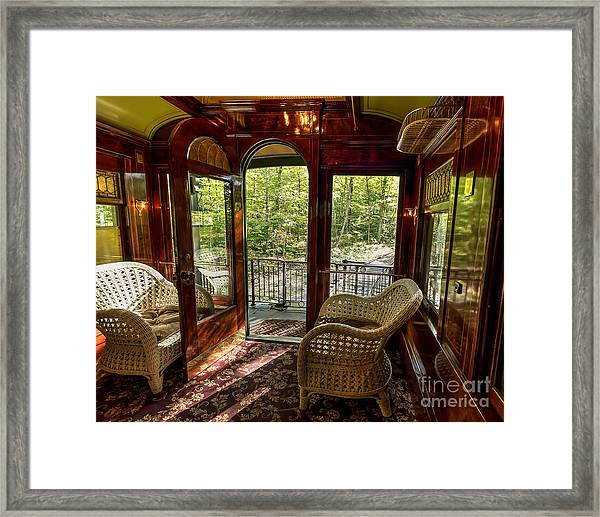 Pullman Porch Framed Print