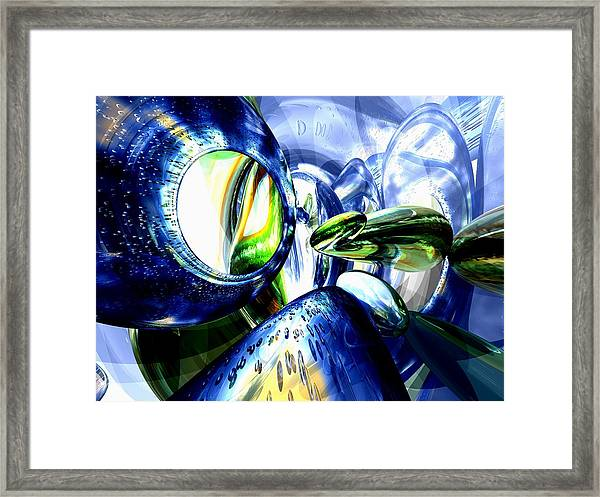 Pulse Of Life Abstract Framed Print