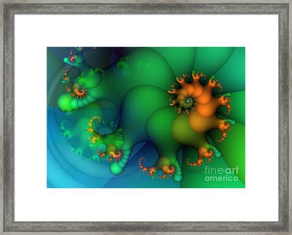 Pumpkin Garden Framed Print