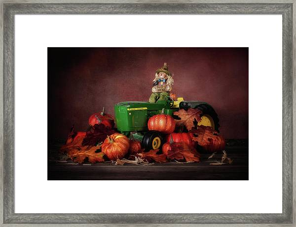 Pumpkin Patch Whimsy Framed Print