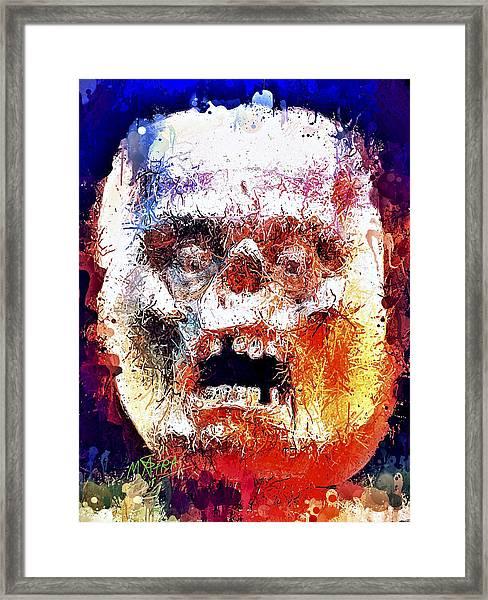 Pumpkin Scream Framed Print