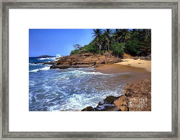 Punta Morillos Near Arecibo Framed Print