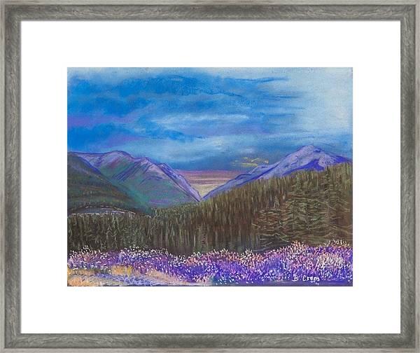 Purple Alaska Framed Print