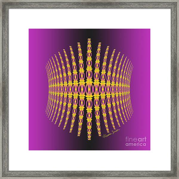 Purple And Gold Crown Framed Print