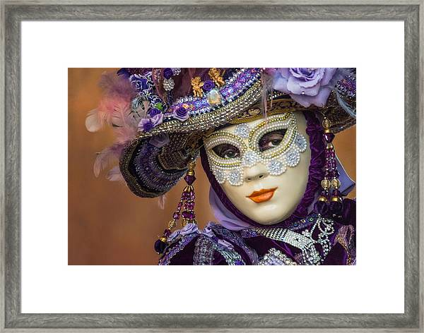 Purple And Pearls Framed Print