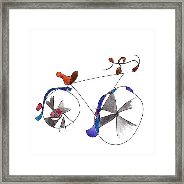 Purple Bicycle Framed Print