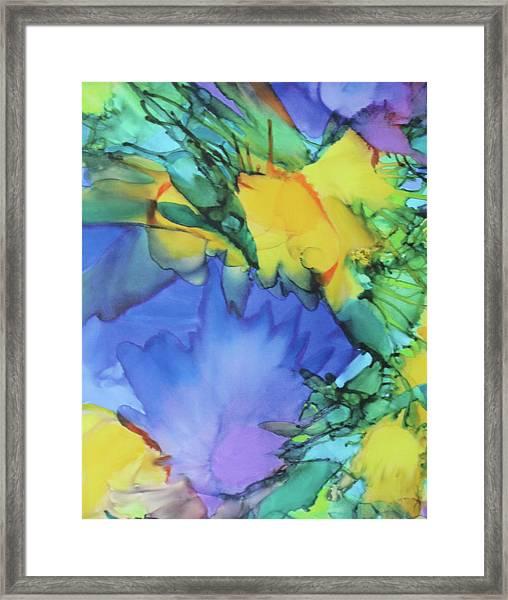 Purple Bird Of Paradise Framed Print