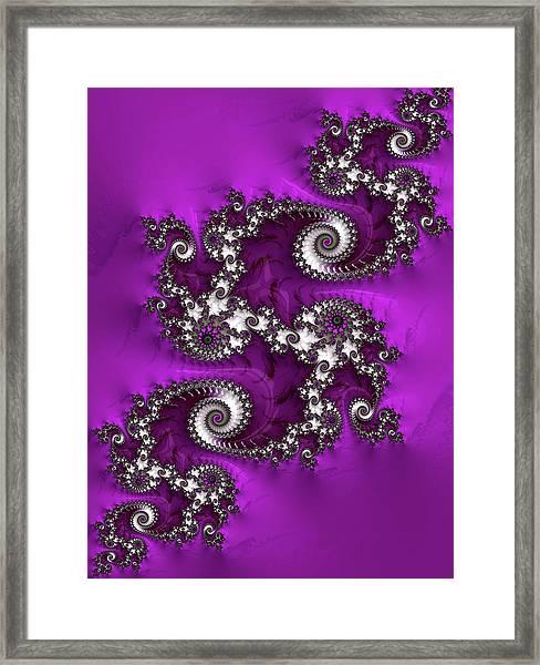 Purple Dragon Framed Print