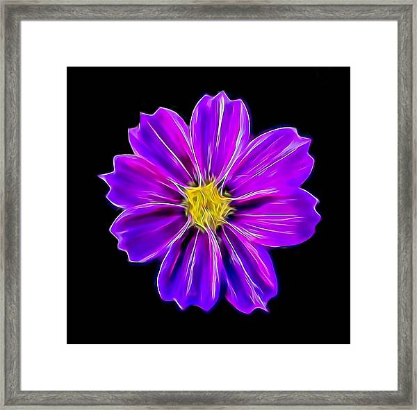 Purple Electric Framed Print
