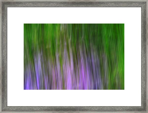 Purple Flames Framed Print