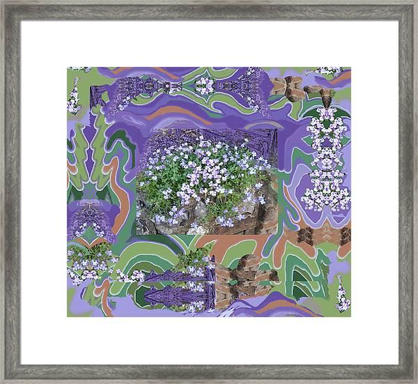 Purple Flower Textured Photo 1028d Framed Print