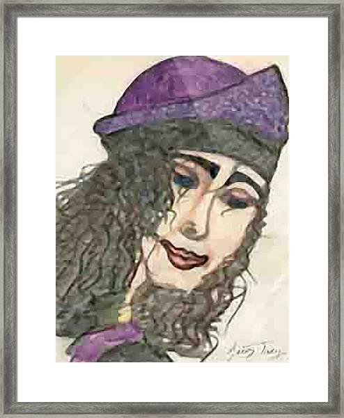 Purple Hat Framed Print