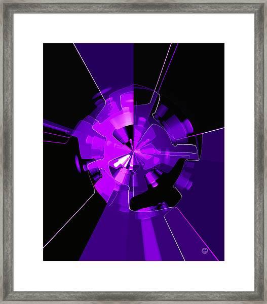 Purple Haze Wheels Framed Print