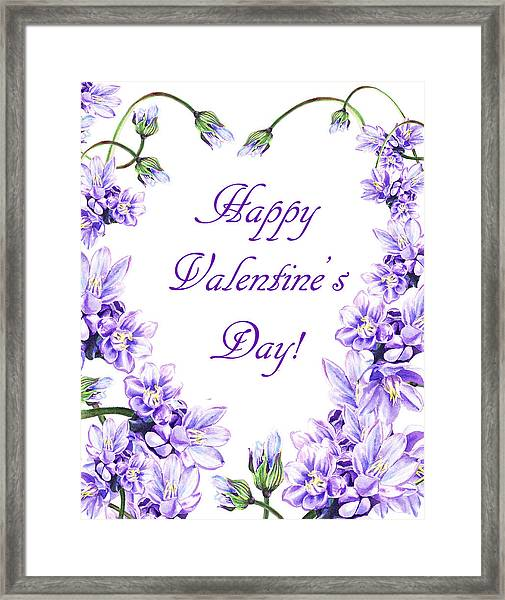 Purple Heart For Valentine Framed Print