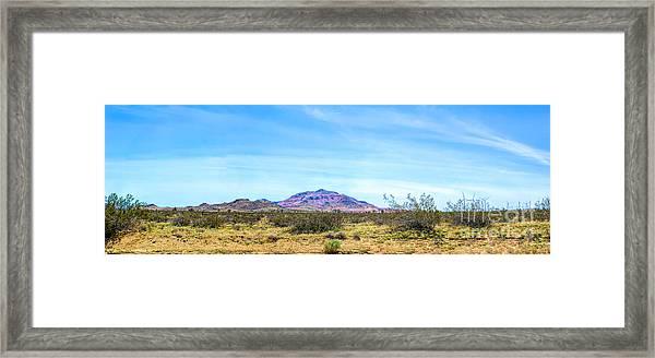 Purple Mountain Panoramic Framed Print