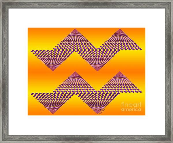Purple Mountains Framed Print